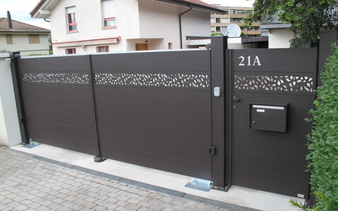 Portail aluminium: esthétique et durable