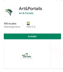 Application 3D Art et Portails sur le Play Store