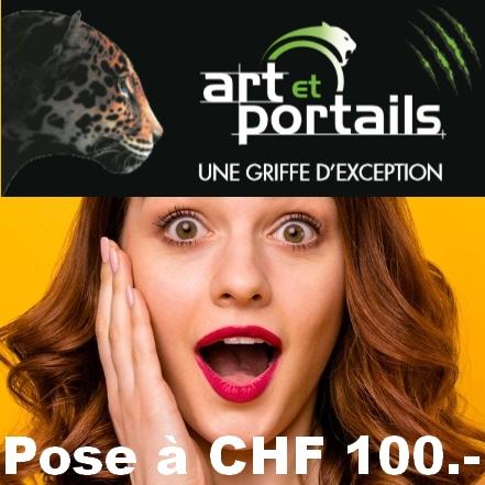 Votre portail posé pour CHF 100.- seulement