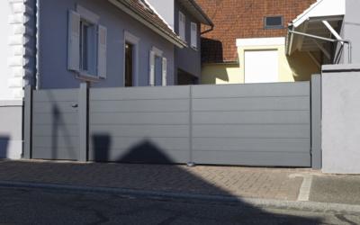 Portail aluminium vissé-soudé : Grande Taille Impeccable